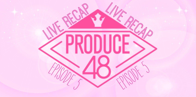 Produce 48 diamond logo Live Recap English translation for Episode 5