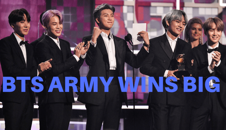 BTS army win bigs