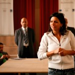 "Zeina Daccache directing ""12 Angry Lebanese"" in Roumieh Prison, Lebanon"
