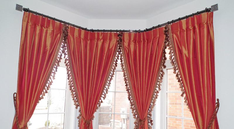 bay window curtain rods beautiful