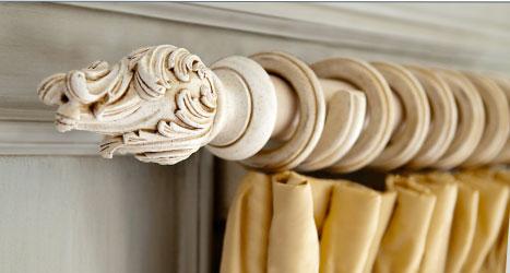 decorative wood drapery hardware see