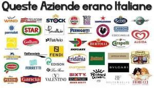 Loghi delle aziende una volta italiane