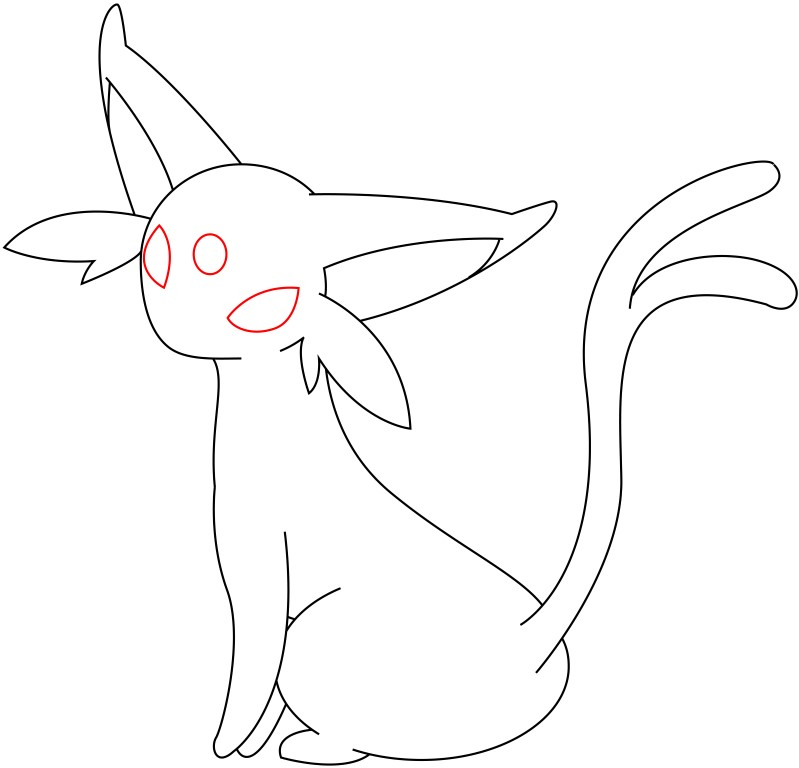 How To Draw Espeon - Draw Central