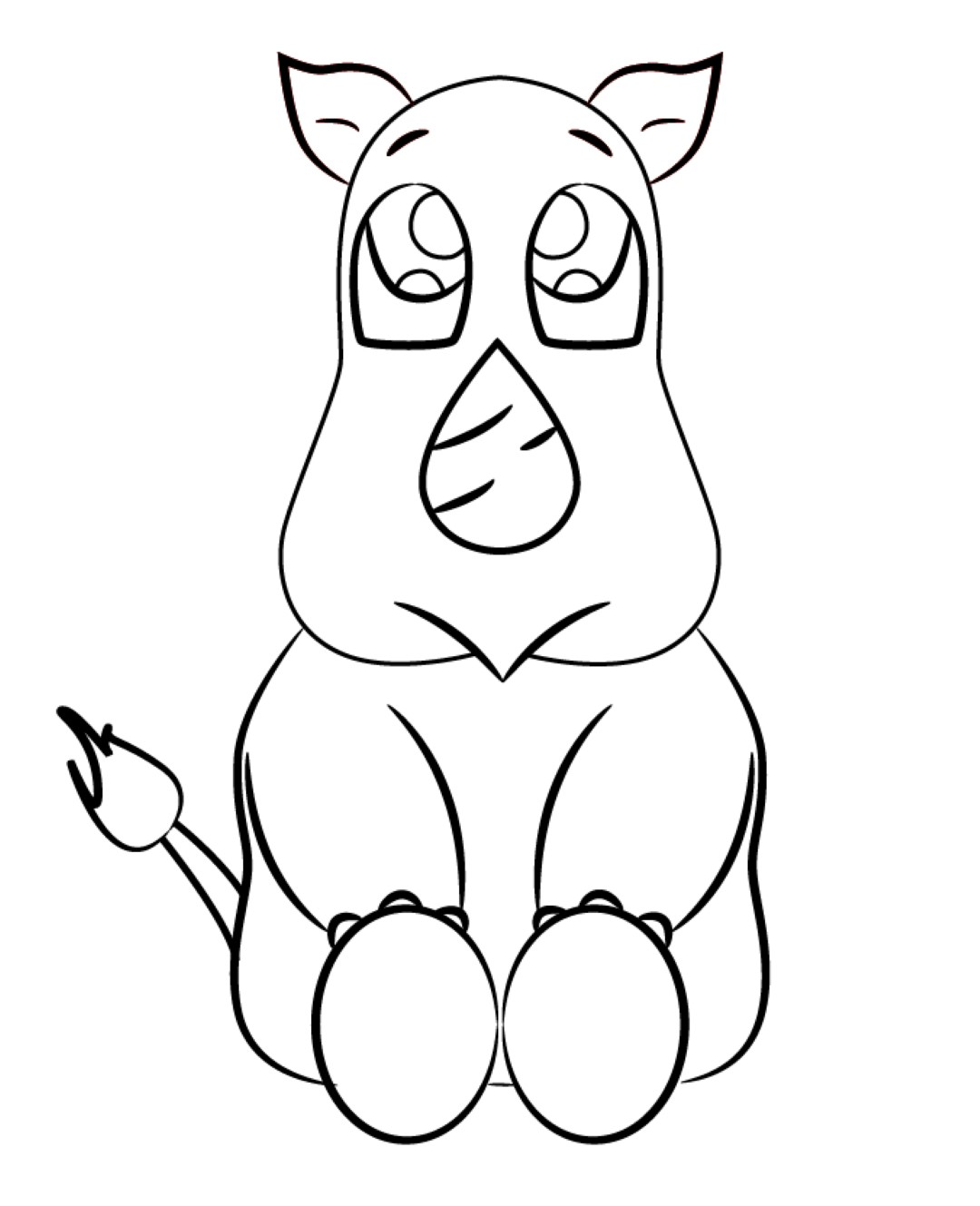 indian rhinoceros coloring page super pictures to pin on pinterest