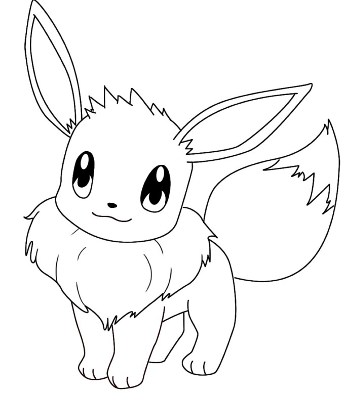 flareon eevee from 101coloringpages com
