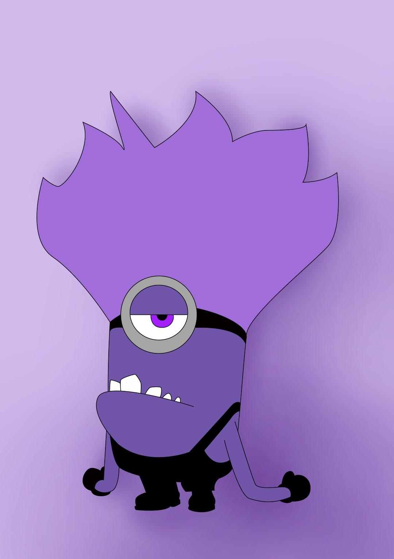 Cartoon evil face