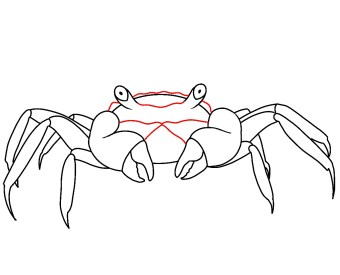 How To Draw A Crab Step 7
