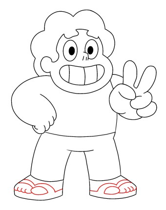 How To Draw Steven Universe Step 10