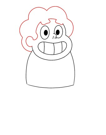 How To Draw Steven Universe Step 4
