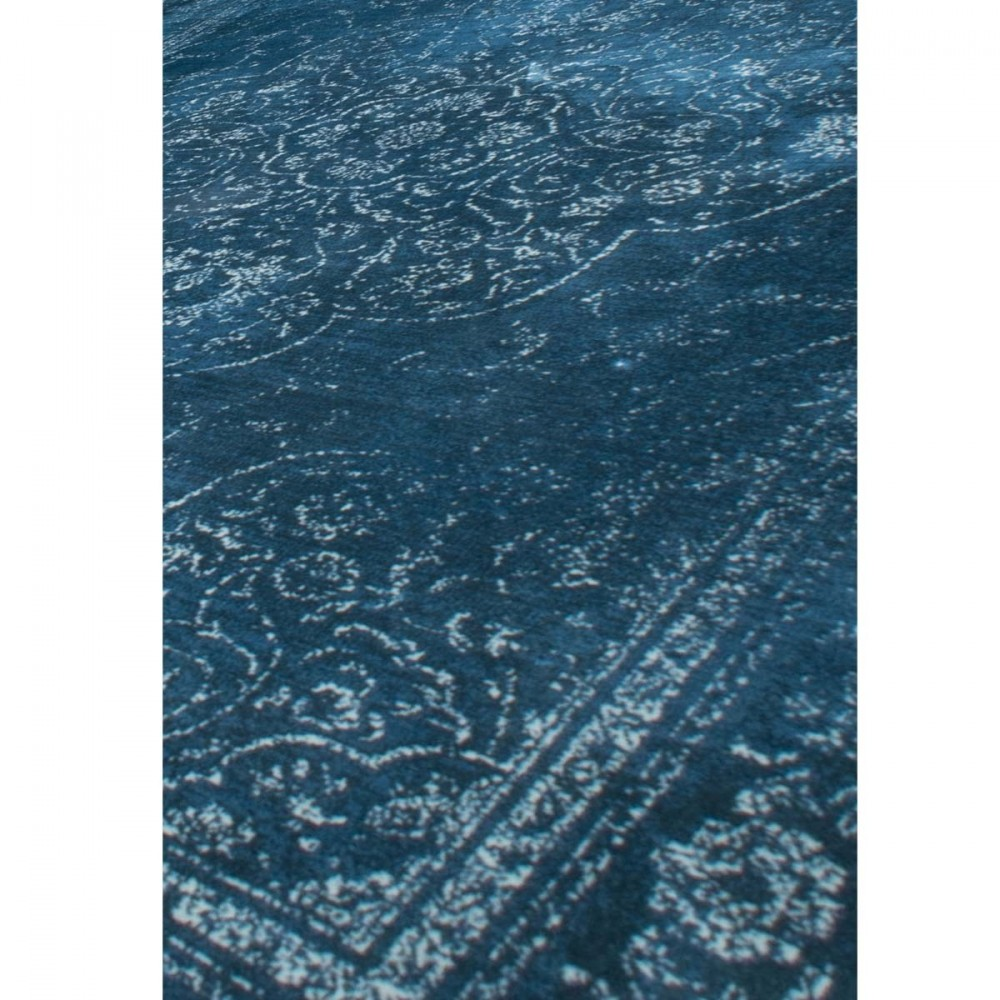tapis de salon iranien bleu dutchbone rugged