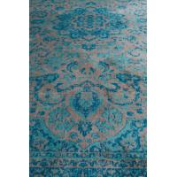 chi tapis motifs orientaux bleu