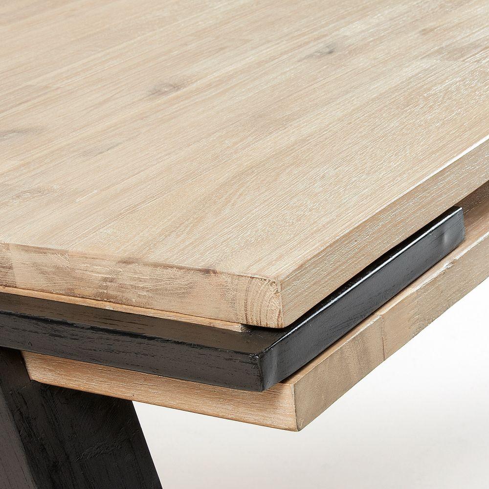 table a manger design bois massif et metal spike
