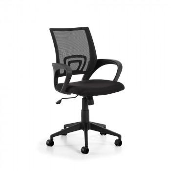rail fauteuil de bureau design reglable a roulettes