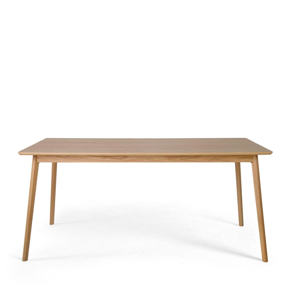 table a manger design scandinave bois et laque blanche skoll