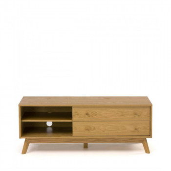 kensal meuble tv design bois massif