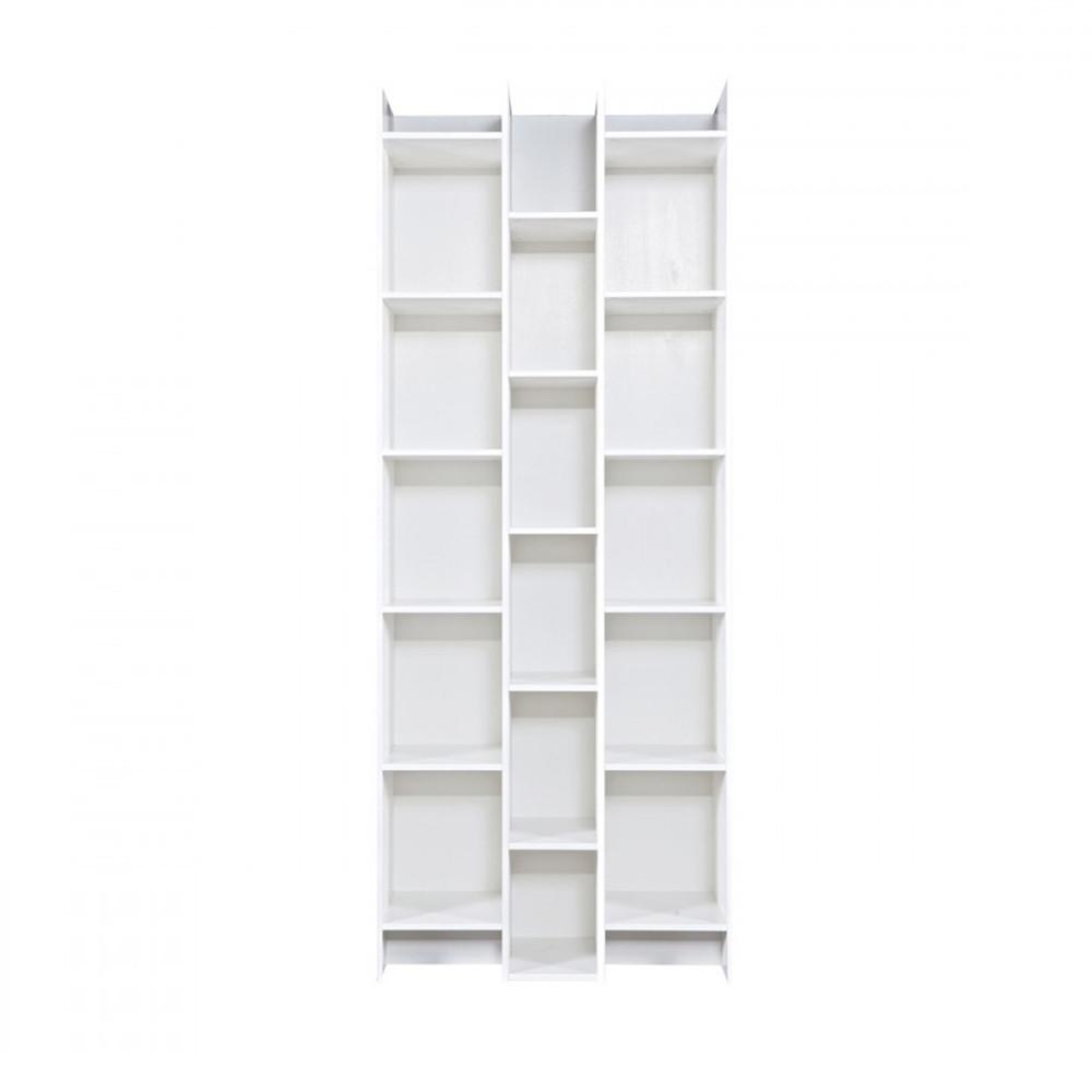 bibliotheque design 3 colonnes woood klasina