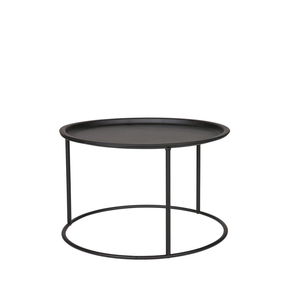 table basse plateau amovible metal l woood ivar
