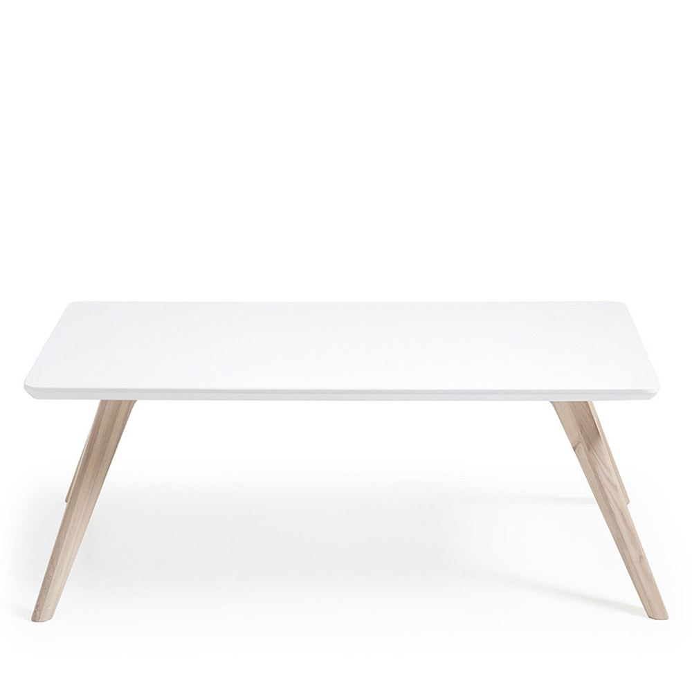 table basse rectangle bois frene blanc mat joshua