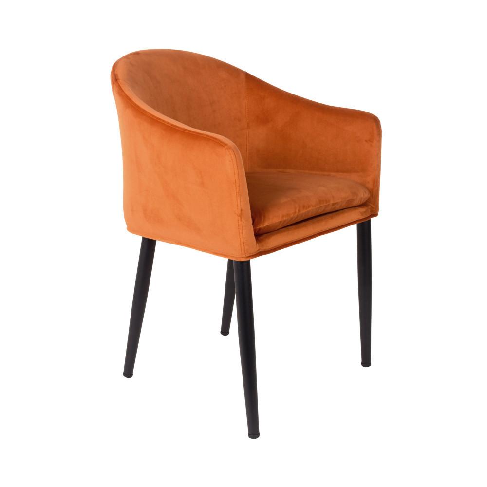catelyn fauteuil de table design en velours