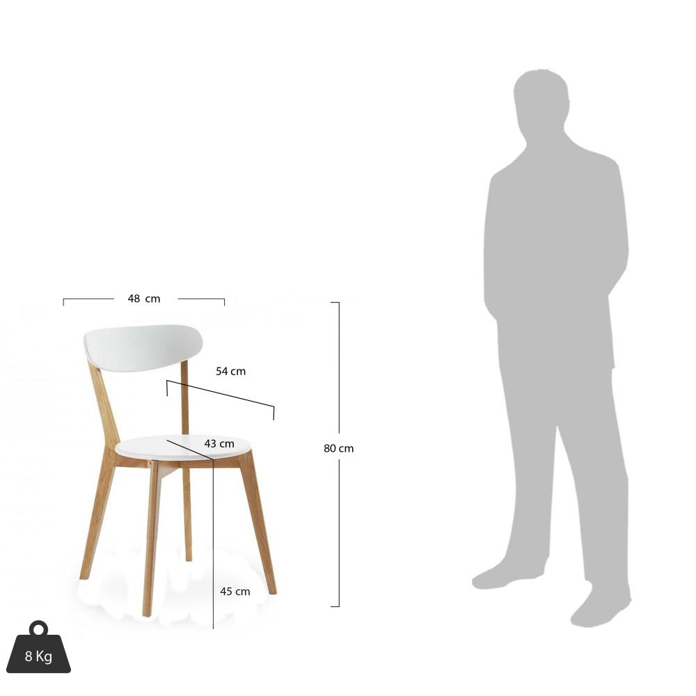 Chaises Design Scandinave Vitak Par Drawer