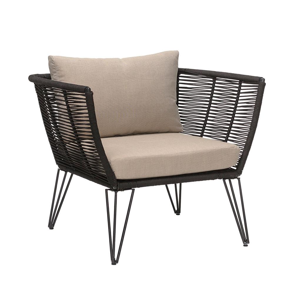 fauteuil de jardin en resine bloomingville seasing