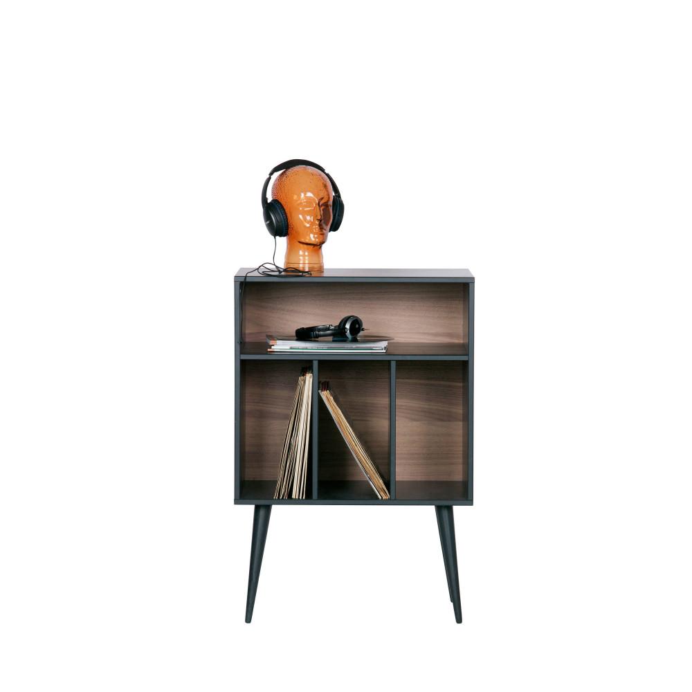 meuble de rangement disques vinyles en bois woood james