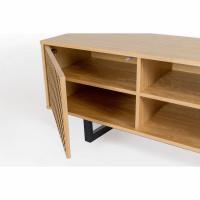 camden meuble tv contemporain bois motifs geometriques