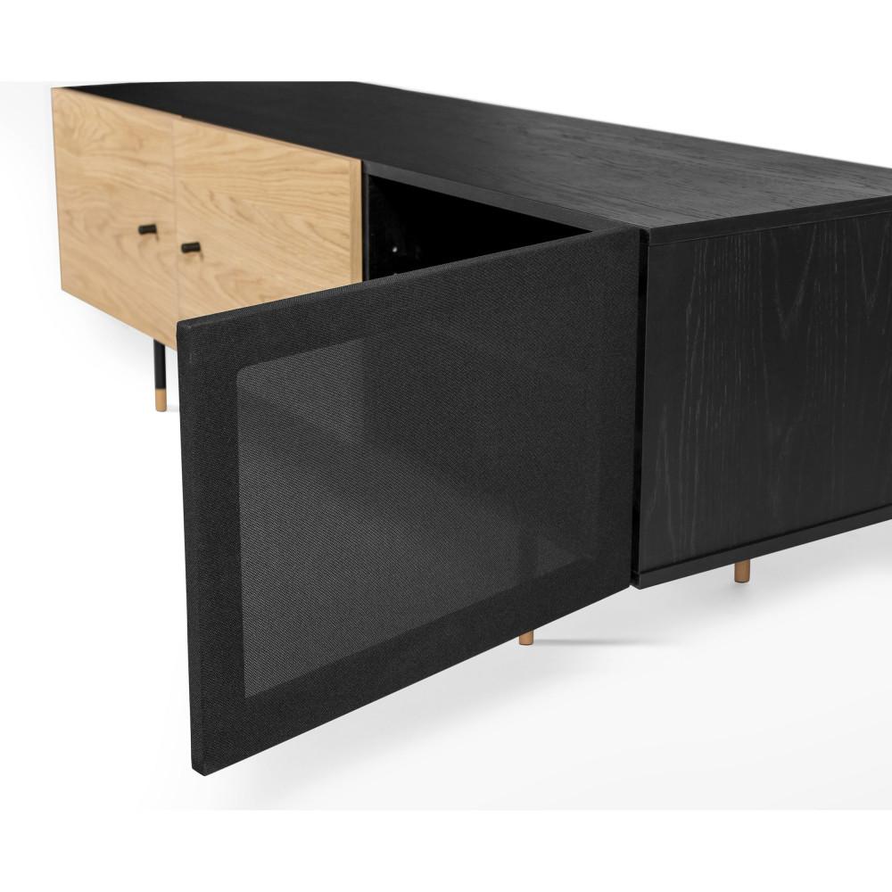 jugend meuble tv en bois et metal