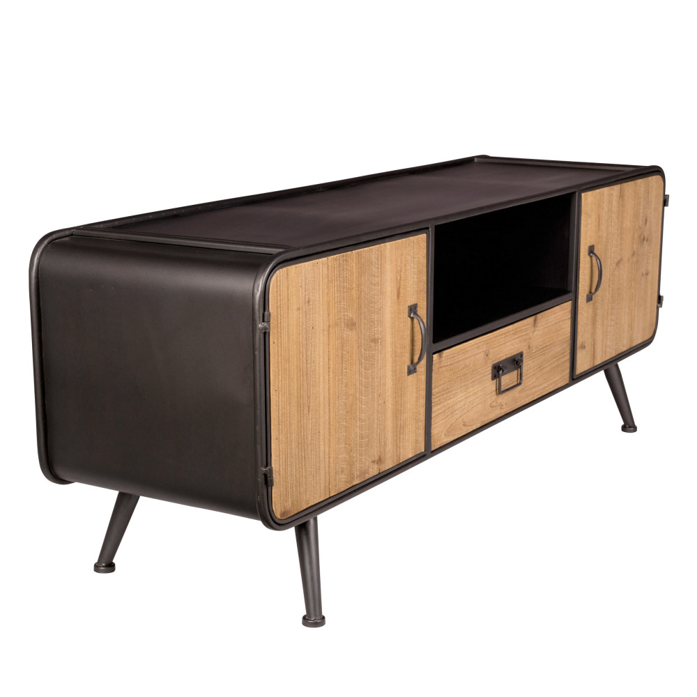 meuble tv en bois et metal dutchbone gin