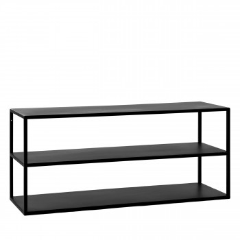 eszential meuble a chaussures en metal 90x30cm