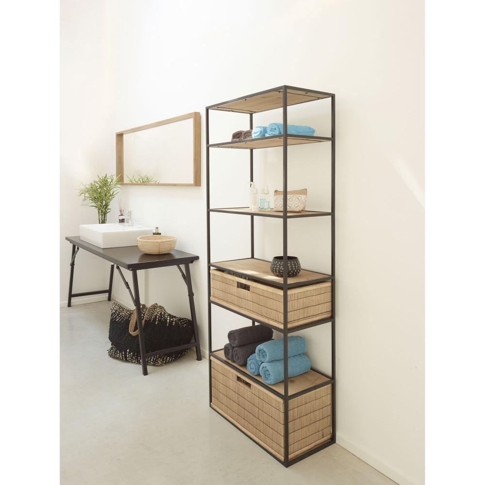 etagere en bois et metal 165x60cm pomax eszential