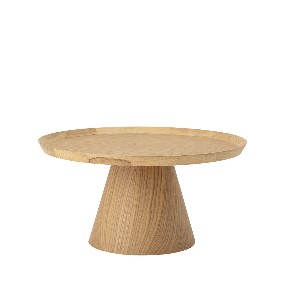 table basse ronde en chene o74cm bloomingville luana