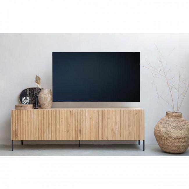meuble tv 3 portes en bois woood gravure