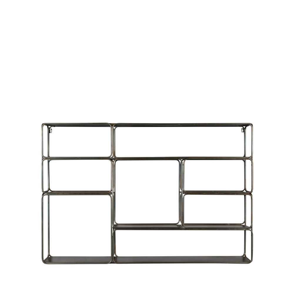 etagere murale metal noir dutchbone connor