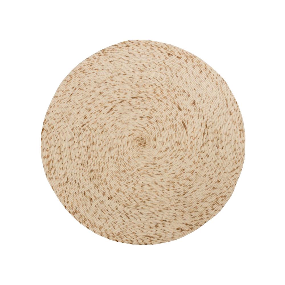 tapis rond en laine ecru dehesas