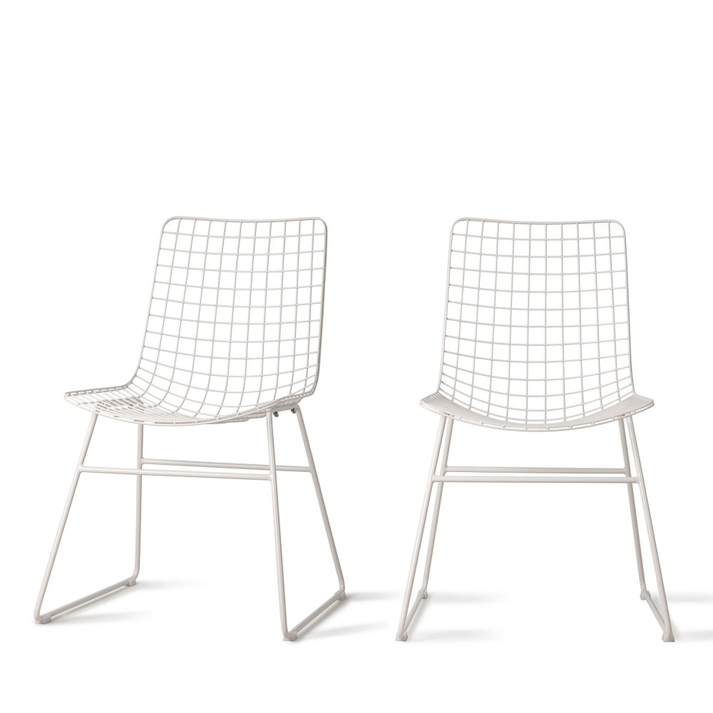 2 chaises en metal quadrille hkliving aslaug