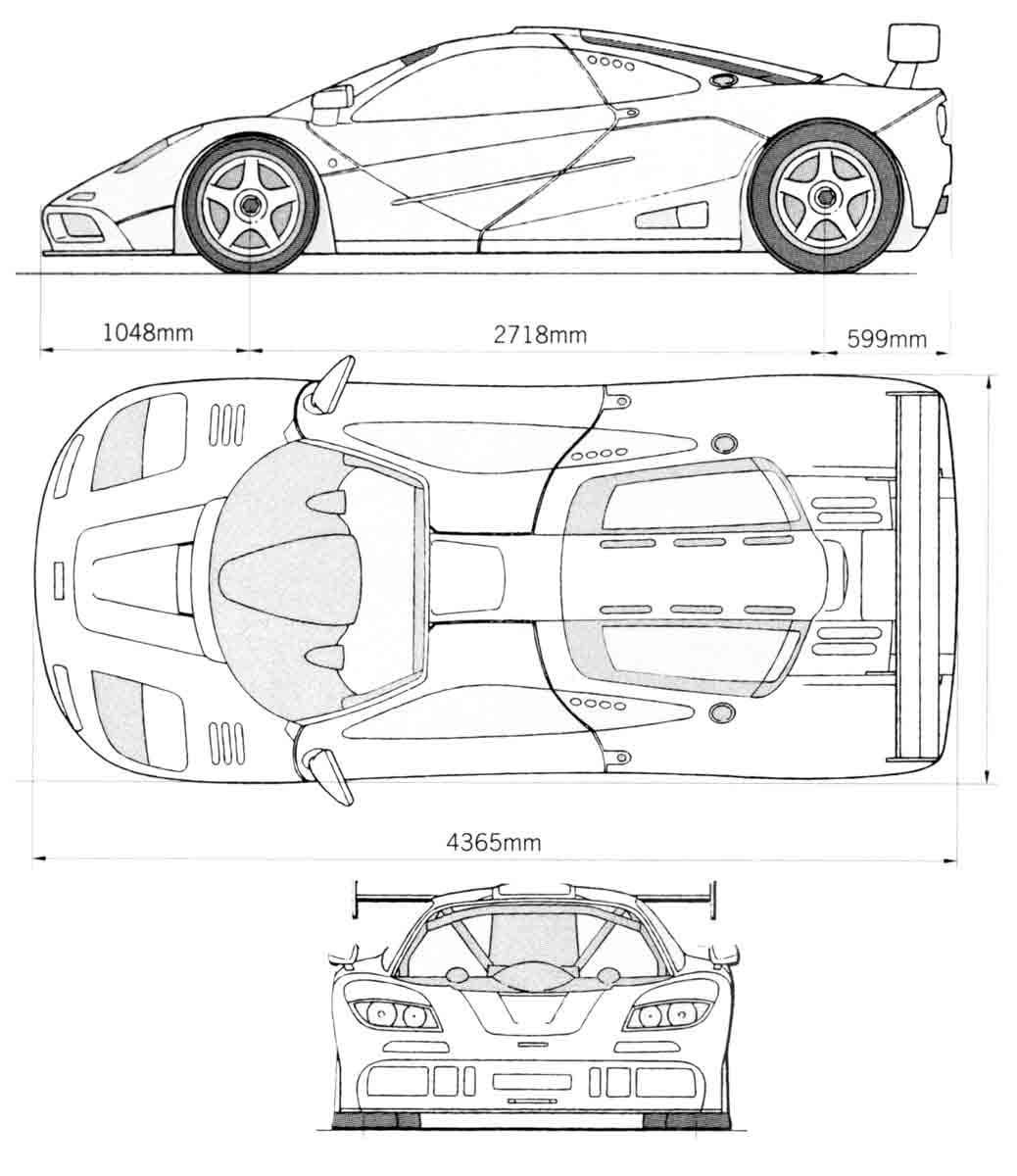 Mclaren F1 Lm Blueprint