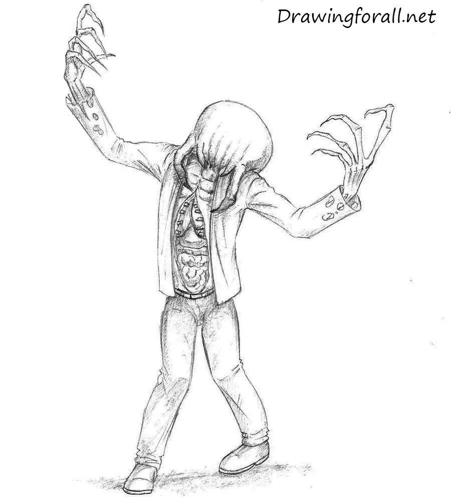Realistic Minecraft Zombie Drawing
