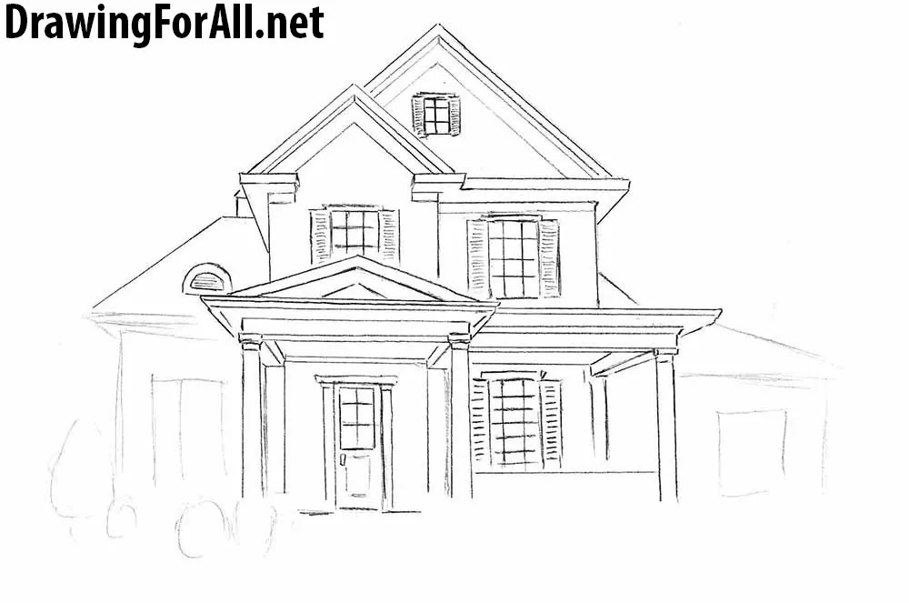 How To Draw A House For Beginners Drawingforall Net