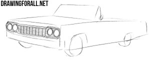 How to Draw a Chevrolet Impala 1964 | Drawingforall