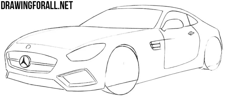 How to Draw a Mercedes-AMG GT | Drawingforall.net