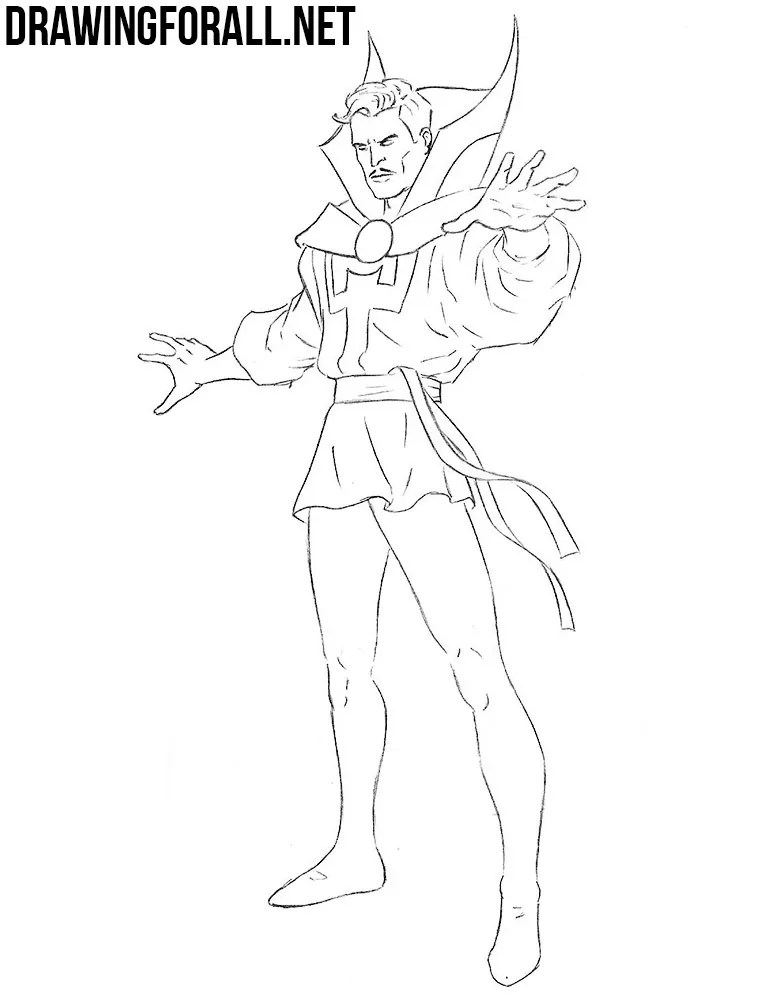How To Draw Doctor Strange Drawingforall Net