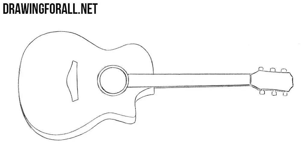 how to draw a guitar drawingforall net