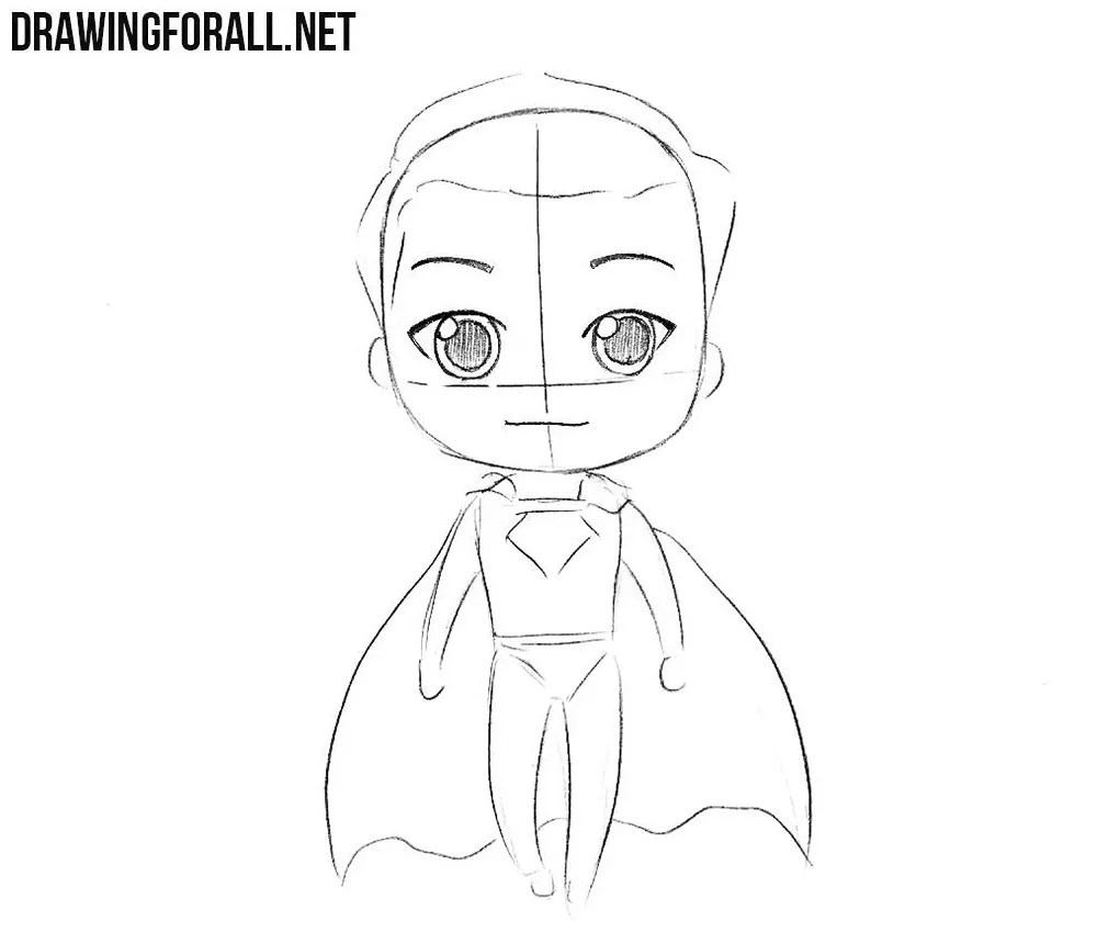 How To Draw Chibi Superman Drawingforall Net
