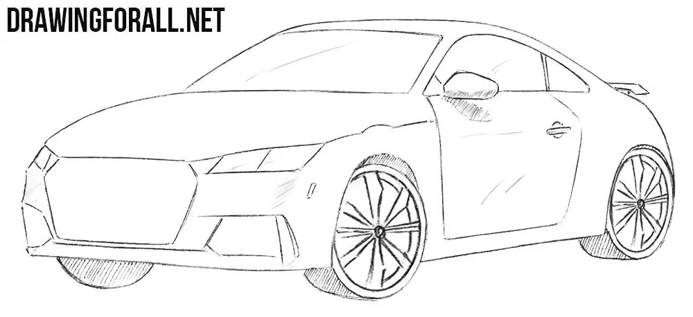 How to Draw a Coupe Car   Drawingforall.net