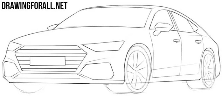 How to Draw a Car Easy | Drawingforall.net