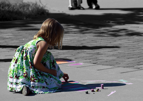 Drawing for Kids Child with Chalk