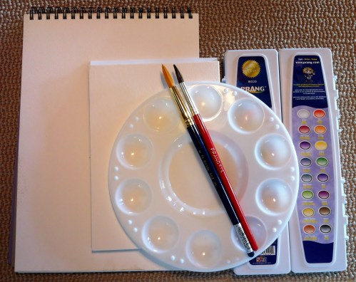 Drawing for Kids - Watecolors Supplies
