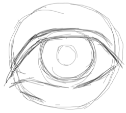 Step 4 : Drawing Realistic Eyes with Simple Steps