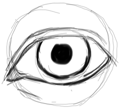 Step 6 : Drawing Realistic Eyes with Simple Steps